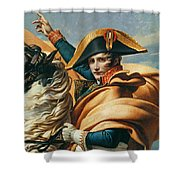 Bonaparte Crossing The Alps Oil On Canvas Detail Of 18491 Shower Curtain