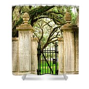 Bonaventure Cemetery Gate Savannah Ga Shower Curtain