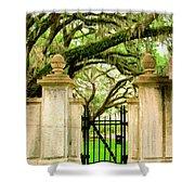 Bonaventure Gate Savannah Ga Shower Curtain