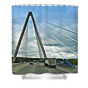 Bond Bridge In Kansas City Shower Curtain
