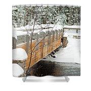 Bond Falls Bridge Shower Curtain