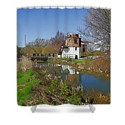 Bonds Mill Area Stroudwater Canal Shower Curtain
