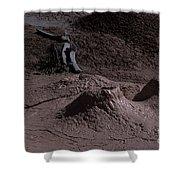 Bones At Mud Pot Area I I Shower Curtain