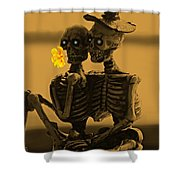 Bones In Love  Shower Curtain