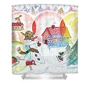 Bonnefemme De Neige / Snow Woman Shower Curtain