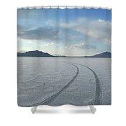 Bonneville Salt Flats, Salt Lake City Shower Curtain
