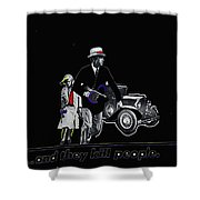 Bonnie And Clyde Poster 1967 Death Valley California 1968-2009 Shower Curtain