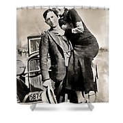 Bonnie And Clyde - Texas Shower Curtain