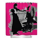 Bonnie Parker Aiming Rifle At Clyde Barrow March 1933 Shower Curtain