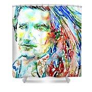 Bono Watercolor Portrait.2 Shower Curtain
