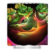 Bonsai Shower Curtain by Kim Sy Ok