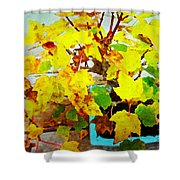 Bonsai Tree With Yellow Leaves Shower Curtain