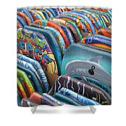 Boogie Boards Shower Curtain