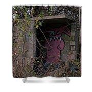 Boogie Monster Graffiti Shower Curtain