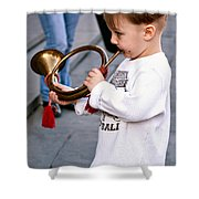 Boogie Woogie Bugle Boy Shower Curtain