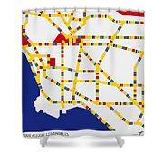 Boogie Woogie Los Angeles Shower Curtain