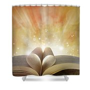 Book Love Shower Curtain by Les Cunliffe