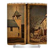 Book Of Churches Shower Curtain