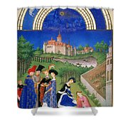 Book Of Hours: April Shower Curtain