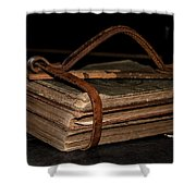 Book Straps Shower Curtain