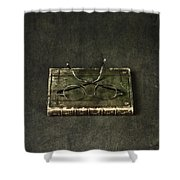 Book With Glasses Shower Curtain