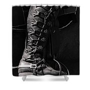 Medieval Faire Boot Detail Shower Curtain
