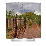 Boothill Cemetary Image Shower Curtain