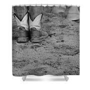 Boots And Horse Hooves Shower Curtain