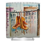 Boots On A Wire Shower Curtain