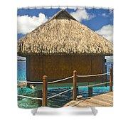 Bora Bora Bungalow Shower Curtain