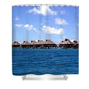 Bora Bora Lagoon Shower Curtain