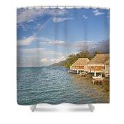Bora Bora Rainbow Shower Curtain