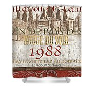 Bordeaux Blanc Label 1 Shower Curtain