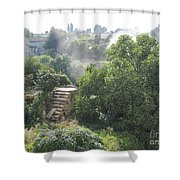 Bordeaux Village Cloud Of Smoke  Shower Curtain