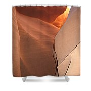 Bordered Rock - Antelope Canyon Shower Curtain