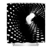 Bore Cylinder 2 Shower Curtain