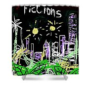 Borges Fictions Poster  Shower Curtain