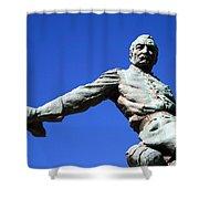 Borglum's General Philip Sheridan -- A Partial View Shower Curtain