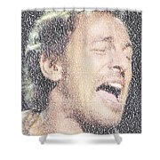 Born To Run Mosaic Shower Curtain