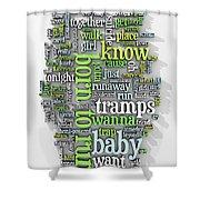 Born To Run Shower Curtain by Scott Norris