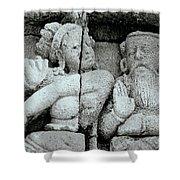 Borobudur Apsara Dancer Shower Curtain