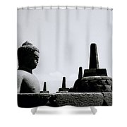 The Contemplation Of The Buddha Shower Curtain