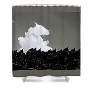 Borobudur Sky Cloud Shower Curtain