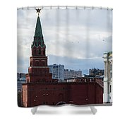 Borovitskaya Tower Of Moscow Kremlin Shower Curtain