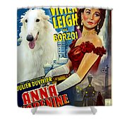 Borzoi Art - Anna Karenine Movie Poster Shower Curtain
