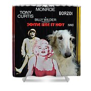 Borzoi Art - Some Like It Hot Movie Poster Shower Curtain