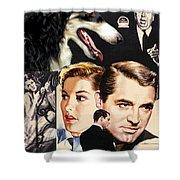 Borzoi Art - Suspicion Movie Poster Shower Curtain