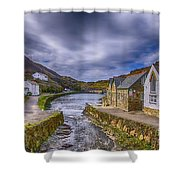 Boscastle Harbour Shower Curtain