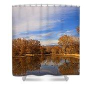 Bosque Del Apache Reflections Shower Curtain