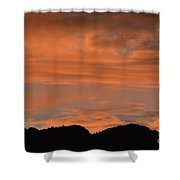 Bosque Del Apache Sunset  Shower Curtain